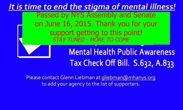Tax Check Off Bill for Mental Health Public Awareness